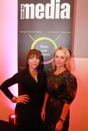 Trish Halpin e Justine Southall, da revista Marie Claire, no recente Encontro com a Mídia da PR Newswire, em Londres.