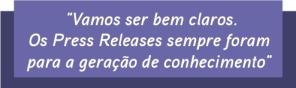 Press Release Conhecimento