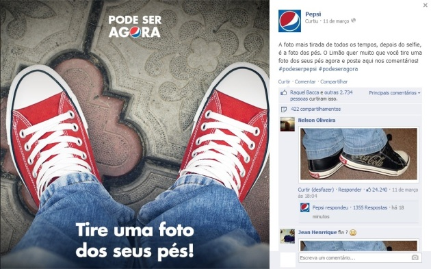 Post da Pepsi Sacada