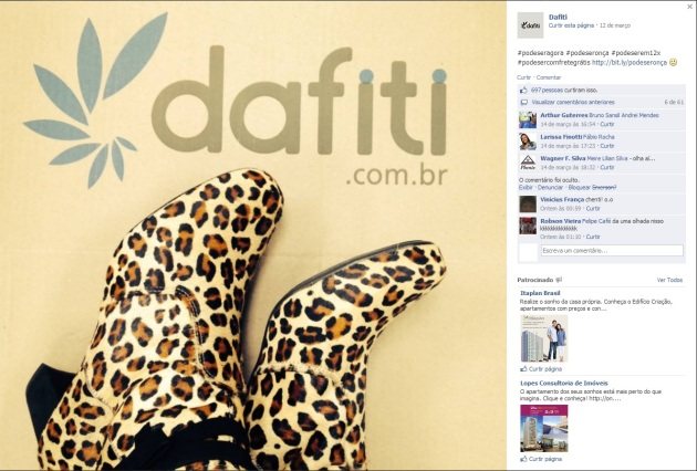 Post da Dafiti no Facebook_Pepsi