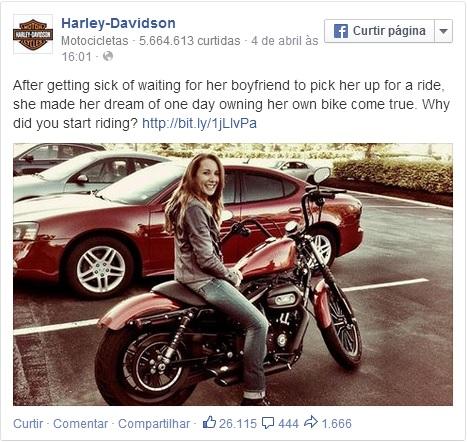 Fanpage Harley Davidson Facebook