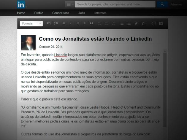 Como os Jornalistas estão Usando o Blog do LinkedIn