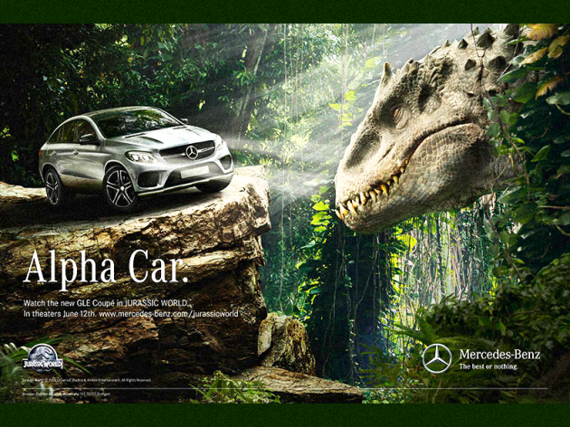 Product Placement - Mercedes volta ao Jurassic Park