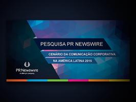 Pesquisa com Jornalistas PR Newswire 2015