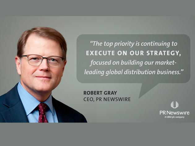 PR Newswire Apresenta seu Novo CEO, Robert Gray