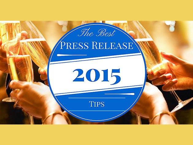As Melhores Dicas de Press Releases de 2015