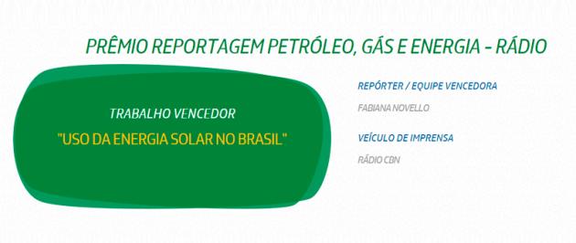 ganhadora do Prêmio Petrobras de Jornalismo