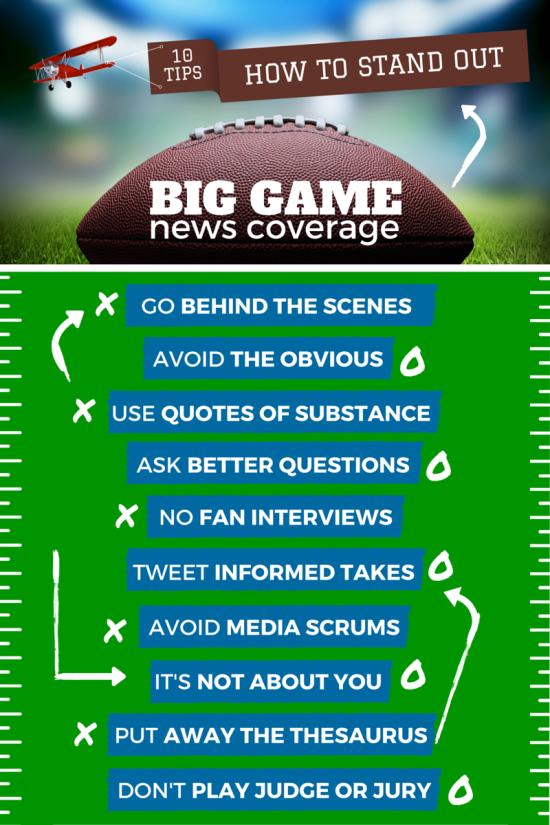Super Bowl - 10 Dicas para Jornalistas em Cobertura Esportiva