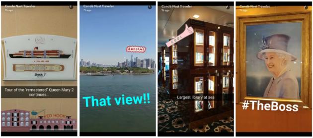 Condé Nast Traveler Snapchat
